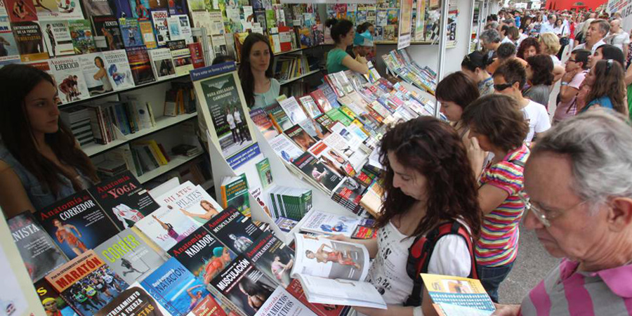 The Madrid Book Fair at Retiro Park