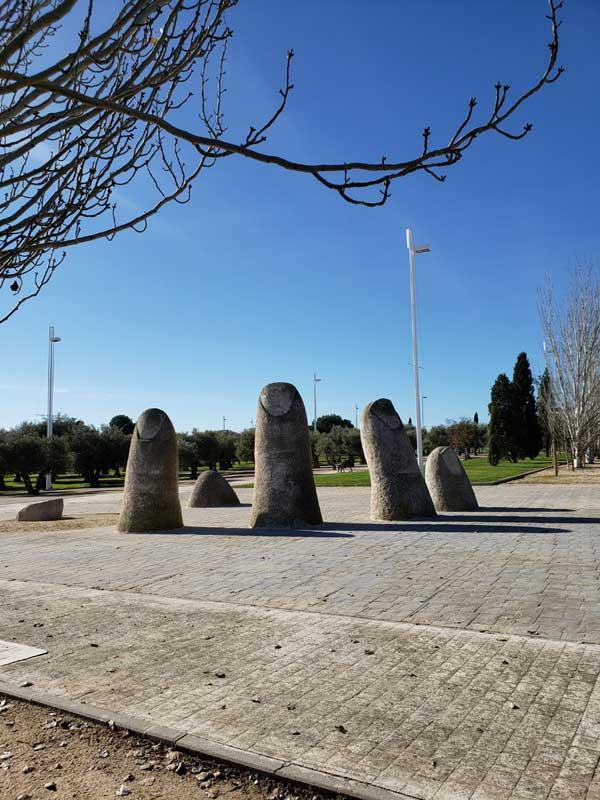 Parque Juan Carlos I. Mario Irarrazabal. Los Dedos